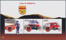 "Thematik: Feuerwehr / Firebrigade: 2004, Angola: ""FIRE BRIGADE"" Souvenir Sheet, Investment Lot Of 10 - Feuerwehr"