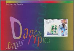 Thematik: Karneval / Carnival: 2001, Angola: CARNIVAL DANCE, Investment Lot Of 1000 Souvenir Sheets - Karnaval