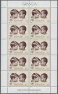 """Thematik: Kinder / Children: 1979, Rwanda, International Year Of The Child, 42fr. """"European And Afri - Ohne Zuordnung"""