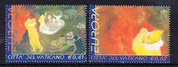 Europa Cept 2002 Vatican City 2v ** Mnh (43039d) @ Face Value - Europa-CEPT
