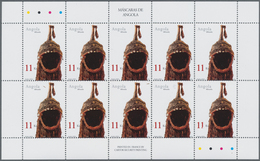 Thematik: Kunsthandwerk / Arts And Crafts: 2002, Angola: MASKS, Complete Set Of Five In An Investmen - Künste