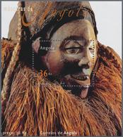 Thematik: Kunsthandwerk / Arts And Crafts: 2002, Angola: MASKS, Investment Lot Of 1000 Souvenir Shee - Künste