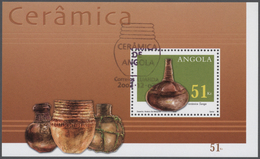 Thematik: Kunsthandwerk / Arts And Crafts: 2002, Angola: POTTERY, Complete Set Of Three In Sheets, I - Künste