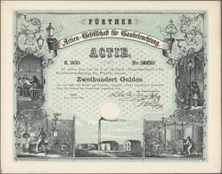 Thematik: Licht-Nacht / Light-night: Aktien-Gesellschaft Für Gasbeleuchtung Zu Fürth, 1. Okt. 1858. - Sonstige