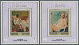 Thematik: Malerei, Maler / Painting, Painters: 1971, Adschman/ Ajman- Manama, Nude Paintings By Fran - Künste