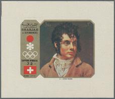 Thematik: Malerei, Maler / Painting, Painters: 1972, Sharjah, Paintings/Olympic Medal Winners, 5dh.- - Künste