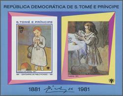 Thematik: Malerei, Maler / Painting, Painters: 1981, SAO TOME E PRINCIPE: 100th Birthday Of Pablo PI - Künste