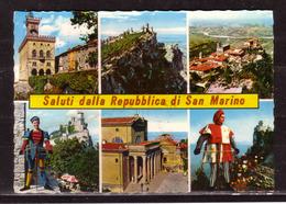 141f * SALUTI DELLA REPUBBLICA DI SAN MARINO * IN 6 ANSICHTEN ** !! - San Marino
