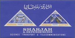 Thematik: Technik-Telekommunikation / Technique-telecommunication: 1965, Sharjah, Souvenir Sheet 40n - Telekom