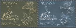 Thematik: Umweltschutz / Environment Protection: 1993, Guyana. Lot Of 100 Complete Sets à 6 GOLD/SIL - Umweltschutz Und Klima