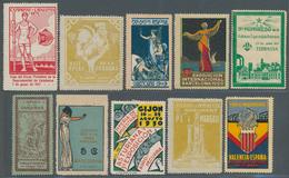 Thematik: Vignetten,Werbemarken / Vignettes, Commercial Stamps: 1860/1980 Ca., CINDERELLAS Of Differ - Vignetten (Erinnophilie)