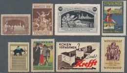 Thematik: Vignetten,Werbemarken / Vignettes, Commercial Stamps: 1897/1989, Hundreds Of Vignettes In - Vignetten (Erinnophilie)
