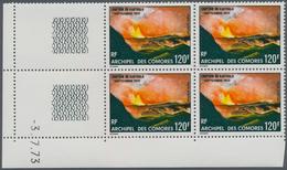 Thematik: Vulkane / Volcanoes: 1973, COMORES: Eruption Of Karthala Volcano 120fr. In A Lot With 400 - Vulkane