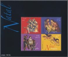 """Thematik: Weihnachten / Christmas: 2003, Angola: """"CHRISTMAS"""" Souvenir Sheet, Investment Lot Of 500 C - Weihnachten"""