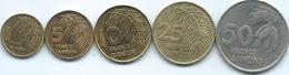 Guinea - 1 (1985) 5 (1985) 10 (1985) 25 (1987) & 50 Francs Guinéens (1994) (KMs 52, 53, 56, 60 & 63) - Guinée