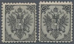 "Bosnien Und Herzegowina: 1879/1899, Definitives ""Double Eagle"", ½kr. Black, Specialised Assortment O - Bosnien-Herzegowina"