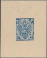 "Bosnien Und Herzegowina: 1879/1899, Definitives ""Double Eagle"", 10kr. Blue, Specialised Assortment O - Bosnien-Herzegowina"