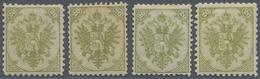 "Bosnien Und Herzegowina: 1879/1899, Definitives ""Double Eagle"", 20kr. Olive-green, Specialised Assor - Bosnien-Herzegowina"