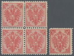 "Bosnien Und Herzegowina: 1879/1899, Definitives ""Double Eagle"", 5kr. Red, Specialised Assortment Of - Bosnien-Herzegowina"