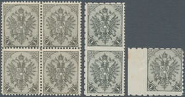 "Bosnien Und Herzegowina: 1900, Definitives ""Double Eagle"", 1h. Black, Specialised Assortment Of 20 S - Bosnien-Herzegowina"