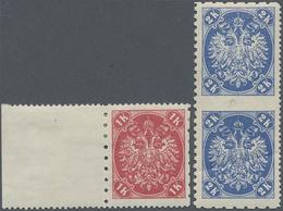 "Bosnien Und Herzegowina: 1900, Definitives ""Double Eagle"", 1kr. Rose And 2 Kr. Ultramarine, Speciali - Bosnien-Herzegowina"