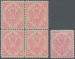 "Bosnien Und Herzegowina: 1900, Definitives ""Double Eagle"", 20h. Rose, Specialised Assortment Of 26 S - Bosnien-Herzegowina"