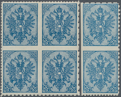 "Bosnien Und Herzegowina: 1900, Definitives ""Double Eagle"", 25h. Blue, Specialised Assortment Of 23 S - Bosnien-Herzegowina"