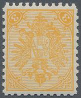 "Bosnien Und Herzegowina: 1900, Definitives ""Double Eagle"", 3h. Yellow, Specialised Assortment Of 15 - Bosnien-Herzegowina"
