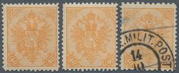 "Bosnien Und Herzegowina: 1900, Definitives ""Double Eagle"", 40h. Orange, Specialised Assortment Of 17 - Bosnien-Herzegowina"