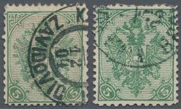 "Bosnien Und Herzegowina: 1900, Definitives ""Double Eagle"", 5h. Green, Specialised Assortment Of 16 S - Bosnien-Herzegowina"