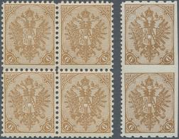 "Bosnien Und Herzegowina: 1900, Definitives ""Double Eagle"", 6h. Brown, Specialised Assortment Of 18 S - Bosnien-Herzegowina"