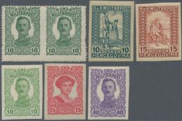 Bosnien Und Herzegowina: 1912/1918, Various Issues, Specialised Assortment Of Apprx. 183 Stamps, Com - Bosnien-Herzegowina