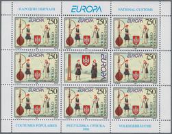 Bosnien Und Herzegowina - Serbische Republik: 1998, Europa, 100 Little Sheets Of Both Issues With 8 - Bosnien-Herzegowina