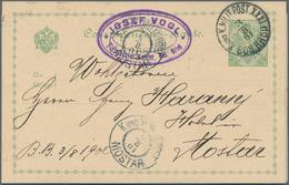 Bosnien Und Herzegowina - Ganzsachen: 1886/1915, Assortment Of Apprx. 40 Used And Unsued Stationerie - Bosnien-Herzegowina