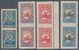 "Litauen: 1919/1926, Specialised Assortment Of 25 Stamps, Incl. Se-tenant Pairs, ""imperf. Betweeen"", - Litauen"
