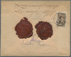 Mittellitauen: 1920/1922, Lot Of Six Covers/cards Bearing Adhesives Incl. Registered Letter, Insured - Litauen