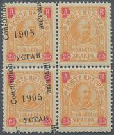 Montenegro: 1905/1906, Overprints, Specialised Assortment Of Apprx. 130 Stamps Showing Many Varietie - Montenegro