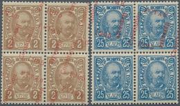 Montenegro: 1905/1906, Overprints, Specialised Assortment Of Apprx. 134 Stamps Showing Many Varietie - Montenegro