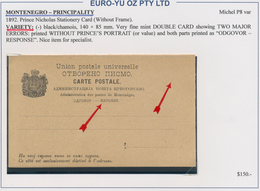 Montenegro - Ganzsachen: 1890/1913, Assortment Of 31 Unused Stationeries Comprising Cards, Letter Ca - Montenegro