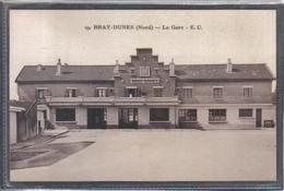 Carte Postale 59. Bray-Dunes Près Dunkerque La Gare   Très Beau Plan - Bray-Dunes