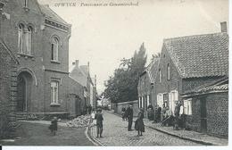 OPWYCK : Pensionaat En Gemeenteschool - Verstuurd Vanaf Het Station Van Opwijk (lijnstempel OPWYCK) 1910 - Opwijk