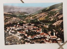 TAURINYA (66)- Vue Panoramique Aérienne Du Village, La Vallée. Dans Le Fond Abbaye De St Michel De Cuxa - Autres Communes