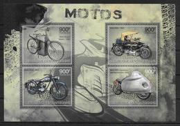 CENTRAFRIQUE  Feuillet  N° 2512/15 * *  ( Cote 20e ) Motos - Motos