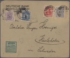 Schweden: 1850/1960 (ca) Ungefähr 460 Belege - Größtenteils Bedarf, Viele Briefe, Formulare, ... Ab - Schweden