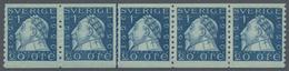Schweden: 1920, King Gustaf II. Adolf 20öre Blue Vert. Perf. 9¾ In A Lot With Approx. 500 Stamps Mos - Schweden
