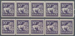 Schweden: 1925/1934, Standing Lion 10öre Violet In Six Different Types And In Different Quantities I - Schweden