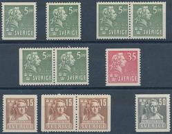 Schweden: 1940/1945, Complete Year Sets Mint Never Hinged: 1940 - 23 Sets, 1941 - 7 Sets, 1943 - 30 - Schweden
