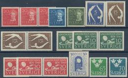 Schweden: 1946/1949, Complete Year Sets Mint Never Hinged: 1946 - 75 Sets, 1947 - 50 Sets, 1948 - 14 - Schweden