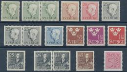 Schweden: 1951/1954, Complete Year Sets Mint Never Hinged: 1951 - 48 Sets, 1952 - 130 Sets, 1953 - 1 - Schweden
