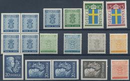 Schweden: 1955, Year Sets Per 100 (without 25 Ö. Three-sided Perforation, Mi.no. 402 Dl/Dr) MNH, Mi. - Schweden